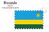 Векторный клипарт: Руанда печать дизайн