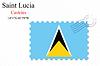 Векторный клипарт: Сент-Люсия печать дизайн