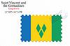 Векторный клипарт: Сент-Винсент и greenadines штамп дизайн