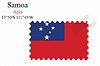 Vector clipart: samoa stamp design