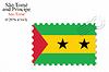 Векторный клипарт: Сан-Томе и Принсипи дизайн печать