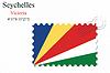 Vector clipart: seychelles stamp design