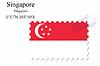Векторный клипарт: Сингапур печать дизайн