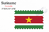 Векторный клипарт: Суринама печать дизайн