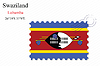 Векторный клипарт: Свазиленд печать дизайн