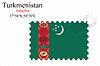 Vector clipart: turkmenistan stamp design