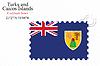 turks and caicos islands stamp design