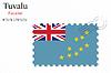 Векторный клипарт: Тувалу печать дизайн