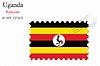 Векторный клипарт: Уганда печать дизайн