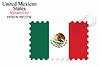 Векторный клипарт: Мексиканские Соединенные Штаты печать дизайн