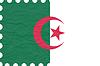 wrinkled paper algeria stamp