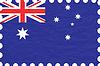wrinkled paper australia stamp