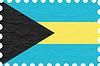 wrinkled paper bahamas stamp