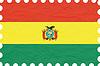 Vector clipart: wrinkled paper bolivia stamp
