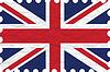 wrinkled paper united kingdom stamp