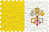 Vector clipart: wrinkled paper vatican city stamp