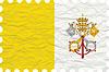 wrinkled paper vatican city stamp