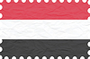 Vector clipart: wrinkled paper yemen stamp