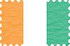 wrinkled paper cote divoire stamp