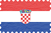 Vector clipart: wrinkled paper croatia stamp