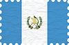 Векторный клипарт: морщинистой бумаги Гватемала марка