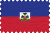 Vector clipart: wrinkled paper haiti stamp