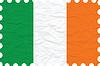 Векторный клипарт: морщинистой бумаги Ирландии марка