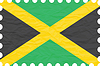 Vector clipart: wrinkled paper jamaica stamp