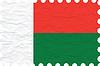 Vektor Cliparts: zerknittertes Papier Madagaskar Briefmarke