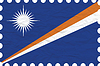 Vector clipart: wrinkled paper marshall islands stamp