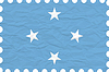 Vector clipart: wrinkled paper micronesia stamp