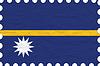 Vector clipart: wrinkled paper nauru stamp