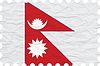 Vector clipart: wrinkled paper nepal stamp