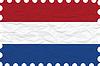 Vector clipart: wrinkled paper netherlands stamp