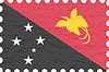 Vector clipart: wrinkled paper papua new guinea stamp