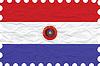 Векторный клипарт: морщинистой бумаги Парагвай печать