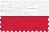 Vector clipart: wrinkled paper poland stamp