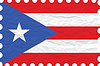 Vector clipart: wrinkled paper puerto rico stamp