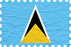 wrinkled paper saint lucia stamp