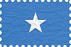 Vector clipart: wrinkled paper somalia stamp