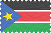 wrinkled paper south sudan stamp