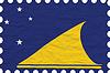 Vector clipart: wrinkled paper tokelau stamp