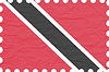 Vector clipart: wrinkled paper trinidad and tobago stamp