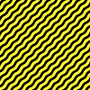 Vector clipart: diagonal wavy yellow stripes