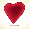 Vector clipart: happy valentines day card