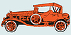 Vector clipart: orange classic car