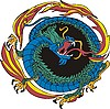 Vector clipart: round dragon