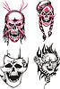 Dead skulls   Stock Vector Graphics