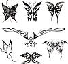 Butterfly Tattoos Set