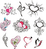 Set of miscellaneous hearts